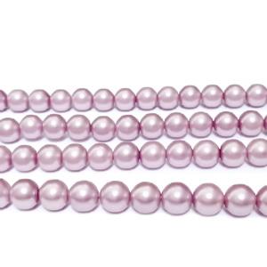 Perle stil Mallorca, roz prafuit, 4 mm 1 buc