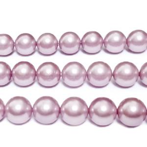 Perle stil Mallorca, roz prafuit, 8 mm 1 buc