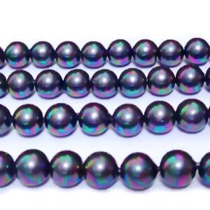 Perle stil Mallorca, gri inchis cu nuante AB, 6 mm 1 buc