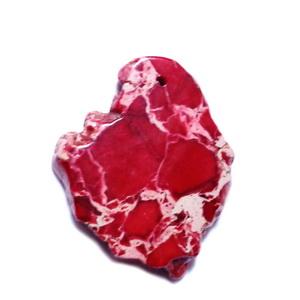 Pandantiv regalit rosu cu jasp imperial, 46x27x5mm 1 buc