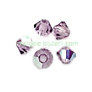 Margele Preciosa biconice Light Amethyst AB - 3mm 1 buc