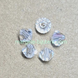 Margele Preciosa biconice Argent Flare - 4mm 1 buc