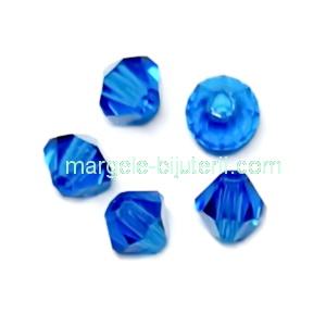 Margele Preciosa biconice Capri Blue - 4mm 1 buc