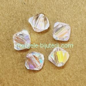 Margele Preciosa biconice Crystal AB - 6mm 1 buc