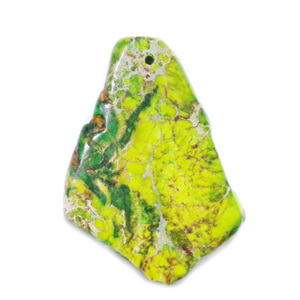 Pandantiv regalit verde cu jasp imperial, 46x33x5mm 1 buc