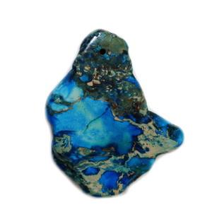 Pandantiv regalit albastru cu jasp imperial, 52x23x5mm 1 buc