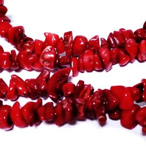 Chips piatra, imitatie coral rosu inchis-sir 29-30 cm 1 buc