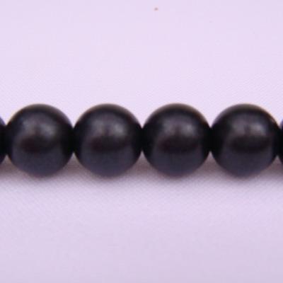 Perle plastic mate negre 10mm 10 buc