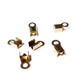 Capat prindere snur, otel inoxidabil 304, auriu, 8x4mm, interior 3mm 1 buc