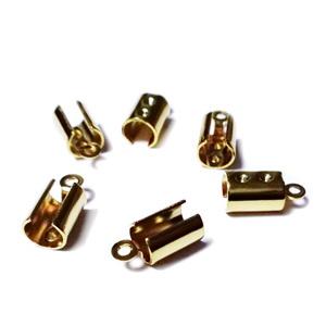 Capat prindere snur, otel inoxidabil 304, auriu, 11x5.5x4.5mm, interior 4mm 1 buc