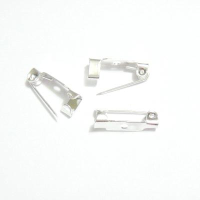 Suport brosa argintiu, 15x5mm, cu 1 orificiu 1 buc