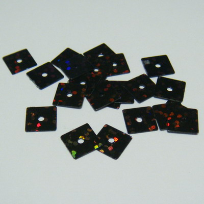 Paiete negre patrate 7x7mm - 100 buc 2 g