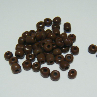 Margele nisip, mate, maro-brun, 4mm 20 g
