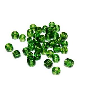 Margele nisip, verde-inchis, transparente, 4mm 20 g
