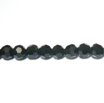 Margele sticla multifete negre 4x3.7mm 10 buc