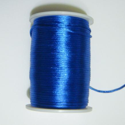 Snur saten albastru-cobalt, 2 mm 1 m