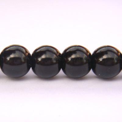 Perle sticla negre 6mm 10 buc