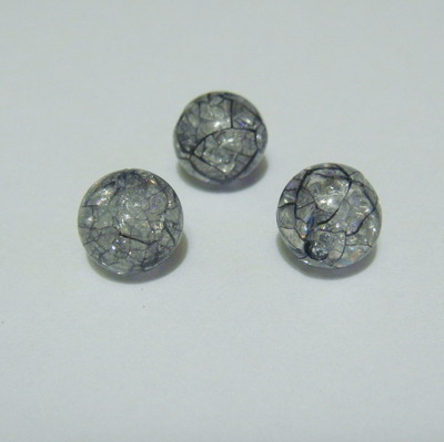 Margele plastic crackle negre 8mm 10 buc