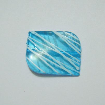 Margele plastic transparente albastre 20x30 mm 1 buc