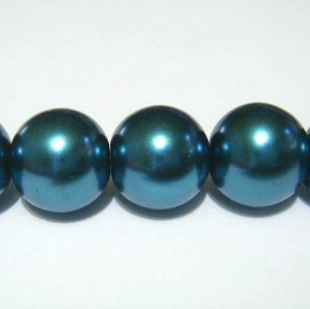 Perle sticla verzi smarald 12mm 10 buc