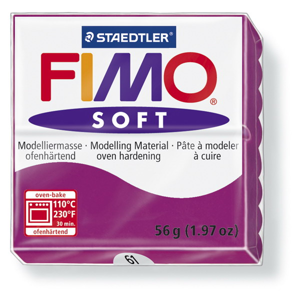 Plastelina fimo soft 56g cod cul. 61 violet purpuriu 1 buc