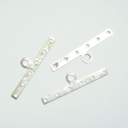 Accesorii/capete multisir argintii 30x3mm cu 6 orif. 1 buc