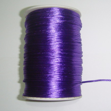 Snur saten violet, 2mm 1 m