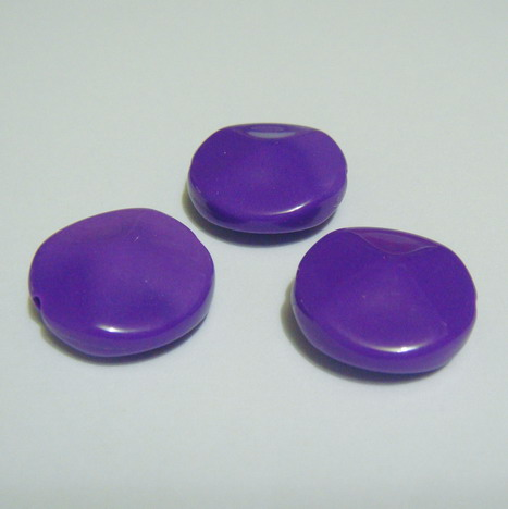 Margele plastic violet, disc 18mm 1 buc
