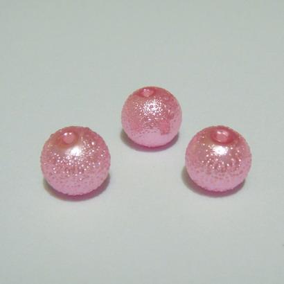 Perle sticla, stardust, roz, 8mm 10 buc