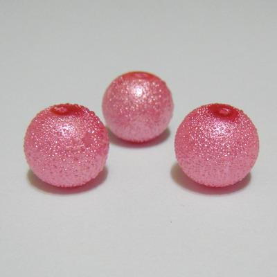 Perle sticla, stardust, roz, 12mm 1 buc