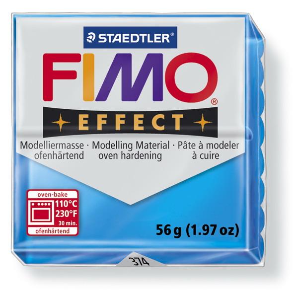 Plastelina fimo effect 56g cod cul 374 albastru transp 1 buc