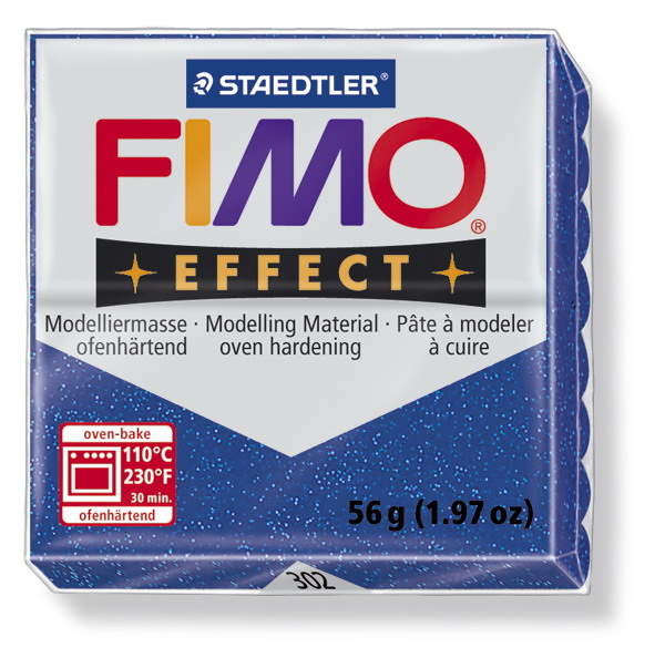 Plastelina fimo effect 56g cod cul 302 albastru sidefat 1 buc
