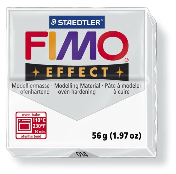Plastelina fimo effect 56g cod cul 014 alb transp 1 buc