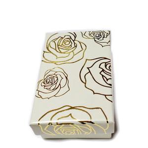 Cutie carton crem cu imprimeu auriu, 8x5x2.5cm 1 buc