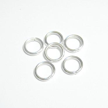 Zale simple argintii 10mm, grosime 1.2mm 100 buc
