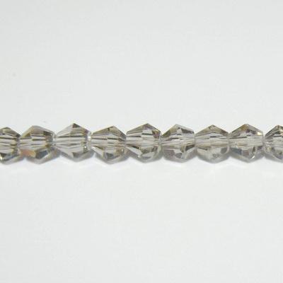 Margele sticla biconice fumurii 4mm 10 buc