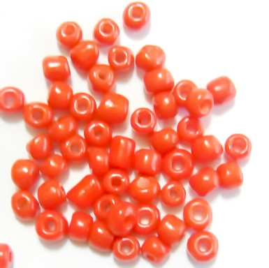 Margele nisip, portocalii-intens, mate, 4mm 20 g