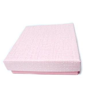 Cutie cadou roz cu alb, 8.5x8.5x2.5cm 1 buc