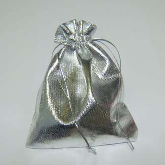 Saculeti lurex, argintii, 12x9 cm, interior 9x9cm 1 buc
