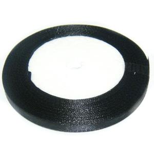 Saten negru 7mm 1 rola 25 m