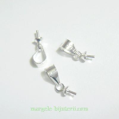 Accesoriu pandantiv, argintiu, cu surub, 10mm 1 buc