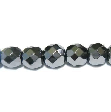 Hematite multifete, nemagnetice, 6mm 1 buc