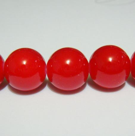 Margele sticla rosii 14mm 1 buc