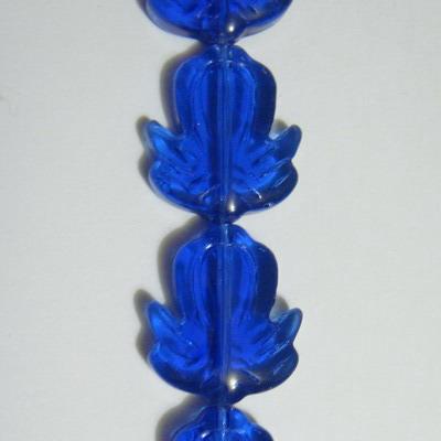 Floricele sticla albastre 20x17x6mm 1 buc