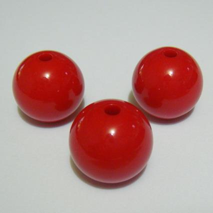 Margele plastic rosii 16mm 1 buc