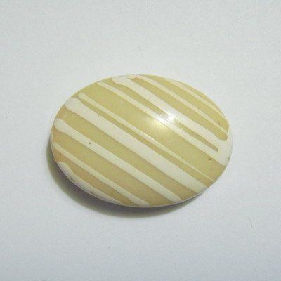 Margele plastic bej, disc 25x20mm 1 buc