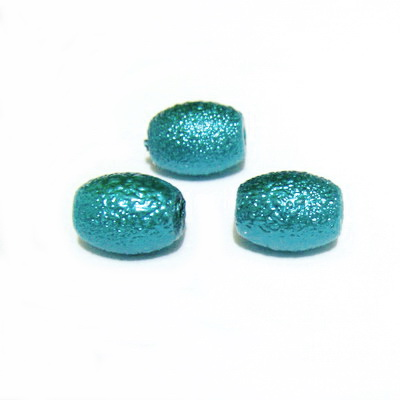 Perle sticla, stardust, ovale, verde pastel, 12x10mm 1 buc