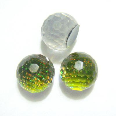 Cabochon plastic kaky,AB, 8x7 mm, platou 6mm 1 buc