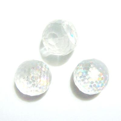 Cabochon plastic transparente, AB, 8x7 mm, platou 6mm 1 buc