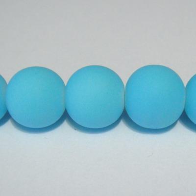 Margele sticla cauciucate, turcoaz, 12mm 1 buc